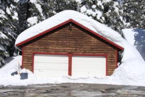 garage door winter serviced