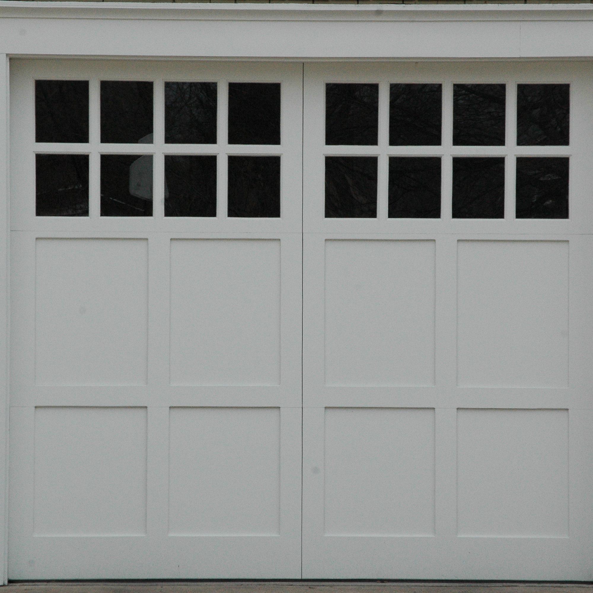 Pinnacle Aluminum garage door with windows